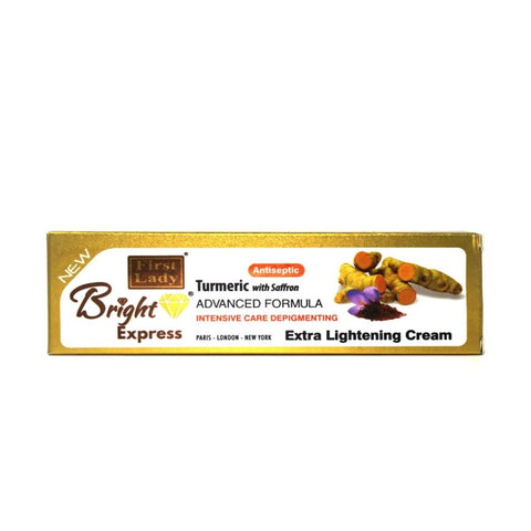 FIRST LADY BRIGHT EXPRESS TURMERIC WITH SAFFRON EXTRA LIGHTENING CREAM (TUBE) 50G - 786shop4you
