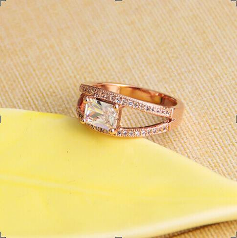 Big Gem New 18K RGP  Fashion plated   gold Plated Zircon Crystal Jewelry Rings Wholesale B8D25259  ABC 403101551 - 786shop4you