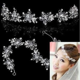 Handmade Crystal Tiara Headband - 786shop4you