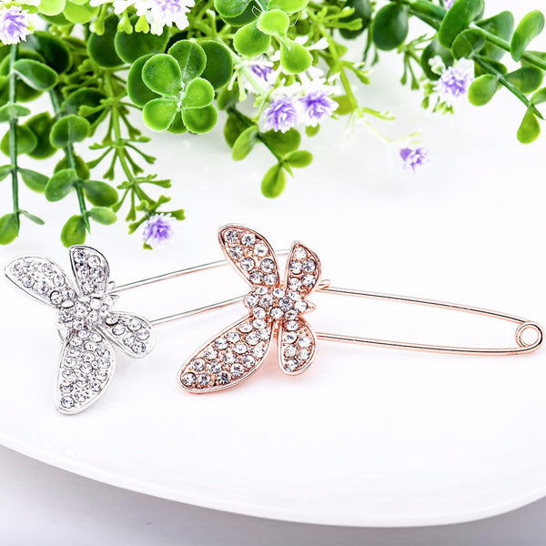 Butterfly Rhinestone Brooch Hijab Pins Lapel Enamel Broches And Crystal Large Cheap Wedding Pin Brooches For Women B2.6 403101473 - 786shop4you