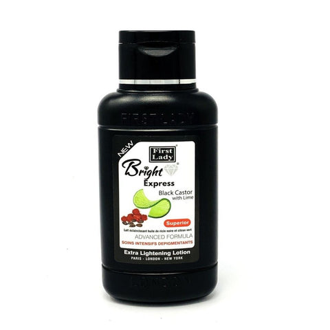 FIRST LADY ~ BRIGHT EXPRESS BLACK CASTOR WITH LIME LIGHTENING LOTION 500ml - 786shop4you