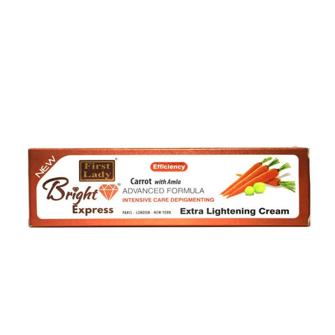 FIRST LADY ~ BRIGHT EXPRESS CARROT WITH AMLA ~ EXTRA LIGHTENING CREAM (TUBE) 50G - 786shop4you