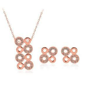 Happy Fourth Circle Necklace Set - 786shop4you