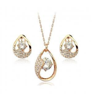 Water Drop Star Eye Necklace Set - 786shop4you