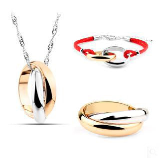 Classic Glossy Color Necklaces Earrings Bracelets Set DLT - 786shop4you