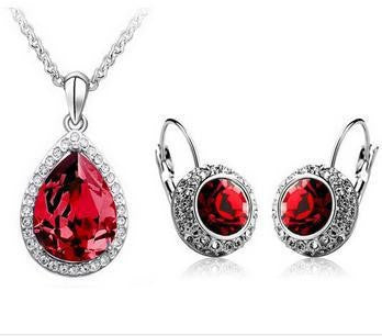 Classic Crystal Rhinestone Necklace Set - 786shop4you