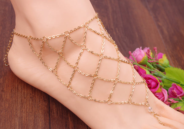 Foot Fishing Ankles Women Jewelry Gifts Anklet Ankle Bracelet Barefoot Sandals Halhal Foot Jewelry Leg Bracelet  403101488 - 786shop4you