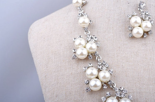 Beautiful Pearl Necklace Set DLT - 786shop4you