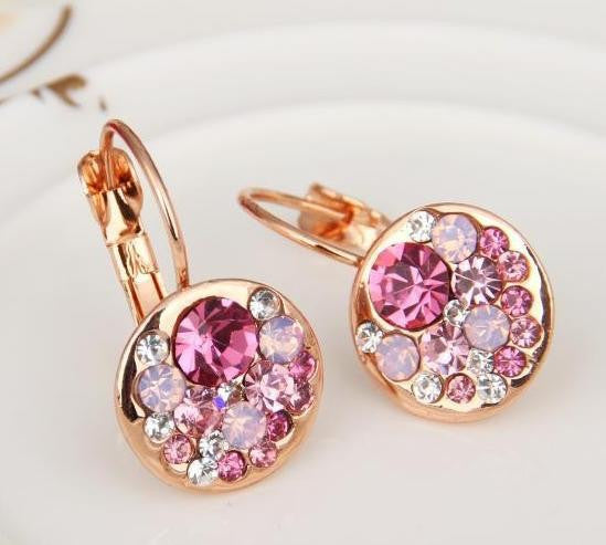 Austrian Rose Crystal Earring - 786shop4you