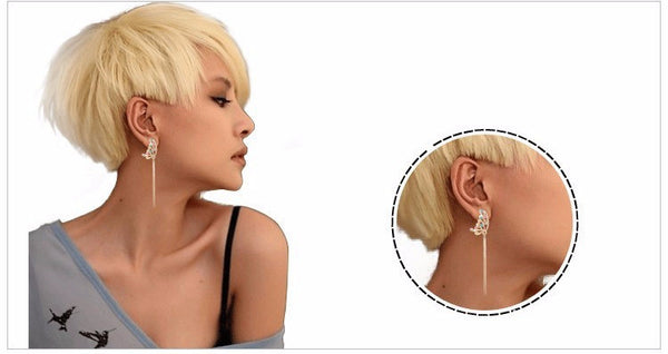 2016 New  Retro Luxury  Super Long Crystal Tassel  Drop Earrings Fashion Party Wedding Jewelry 403101345 - 786shop4you