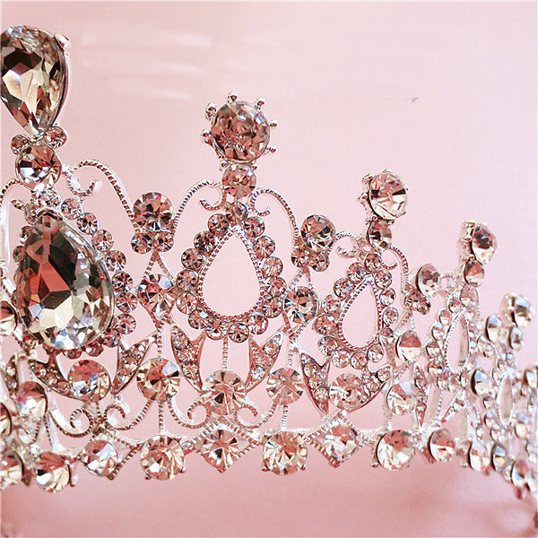 Crystal Bridal Tiara Crown - 786shop4you