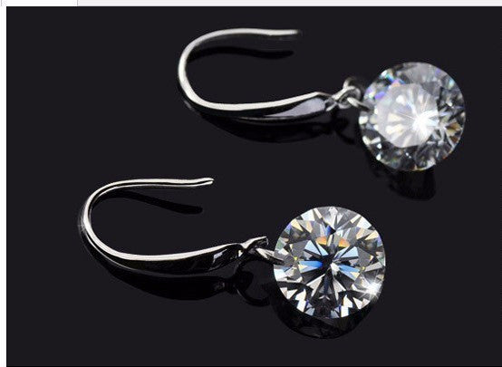 Silver Gold Crystal Earring - 786shop4you