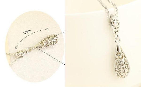 Crystal Pattern Drop Necklace Set - 786shop4you