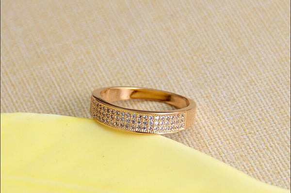18K Gold Plated Zircon Crystal Ring - 786shop4you