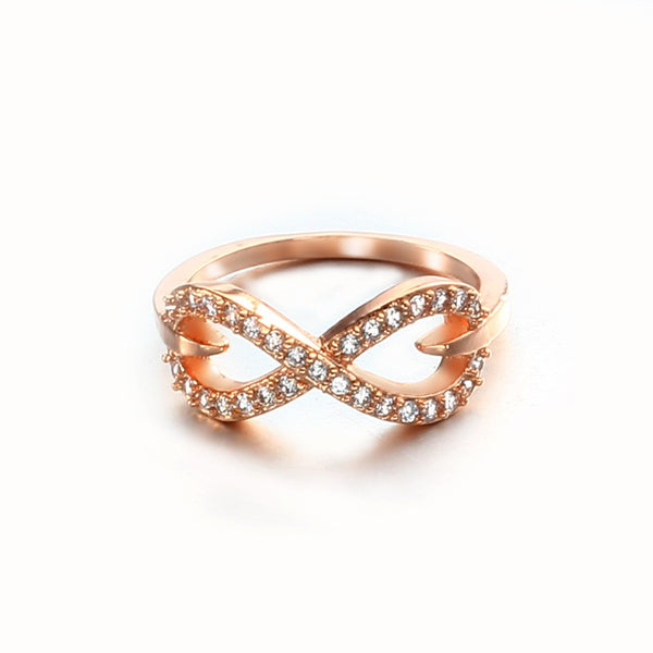 Rhinestone 18k Plated Gold Ring