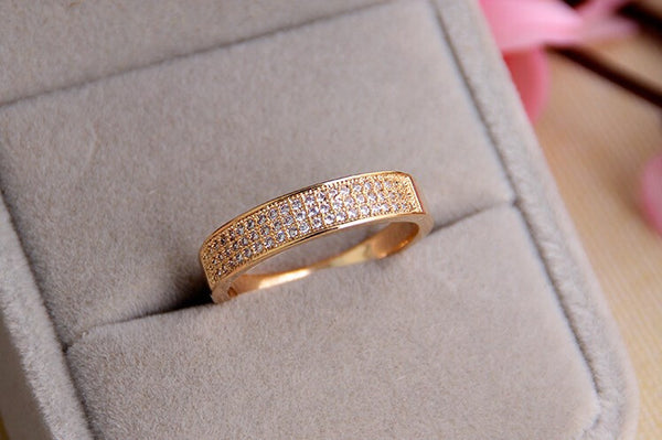18K Gold Plated Zircon Crystal Ring