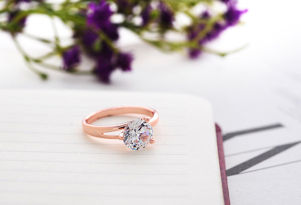 Best  shop 2Colors 2016  Plated 18K Real plated   gold Zircon Crystal Rings Jewelry Wholesale Wedding Gifts P123 ABC 403101556 - 786shop4you