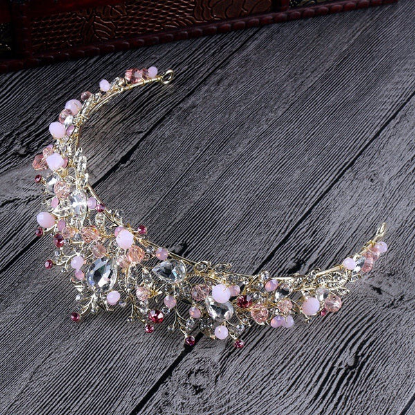 Handmade Beaded Crystal Tiara