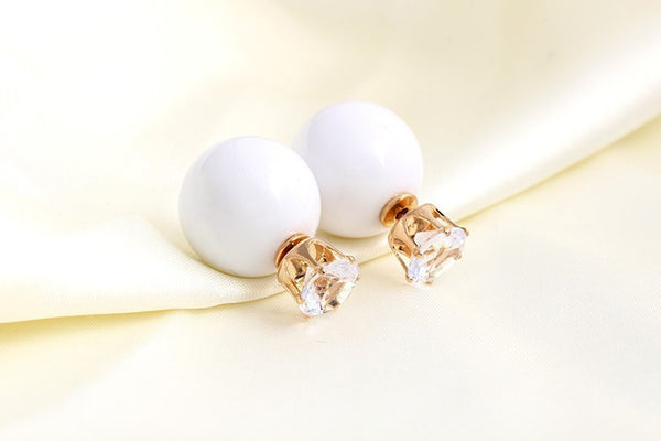 Big Round Crystal Earring - 786shop4you