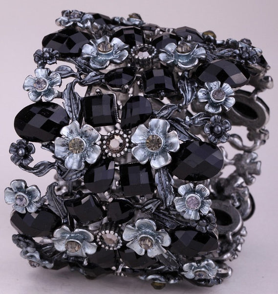 Flower Stretch Wide Bracelet YQ - 786shop4you