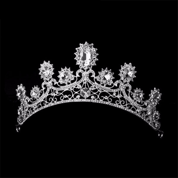 Classic Crystal Luxury Crown Tiara - 786shop4you