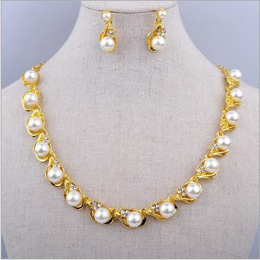 American Luxury Pearl Necklace Set DLT - 786shop4you
