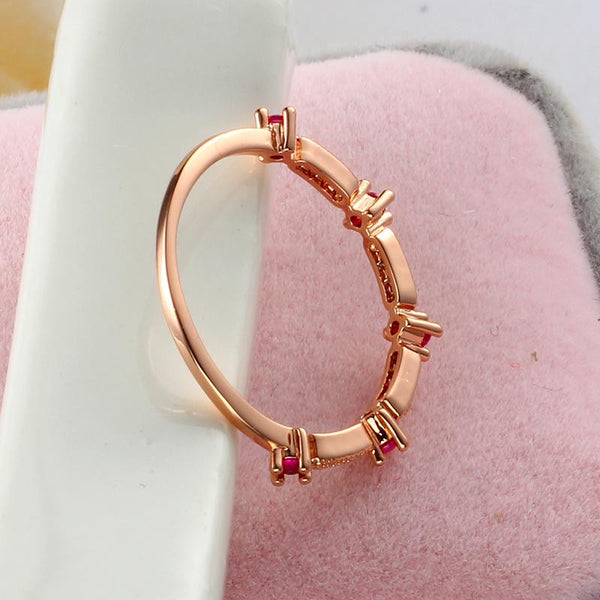 Crystal 18K Gold Plated Ring