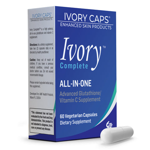 Ivory Caps Complete ALL-IN-ONE Advanced Glutathione ~ Vitamin C Supplement Capsule - 786shop4you