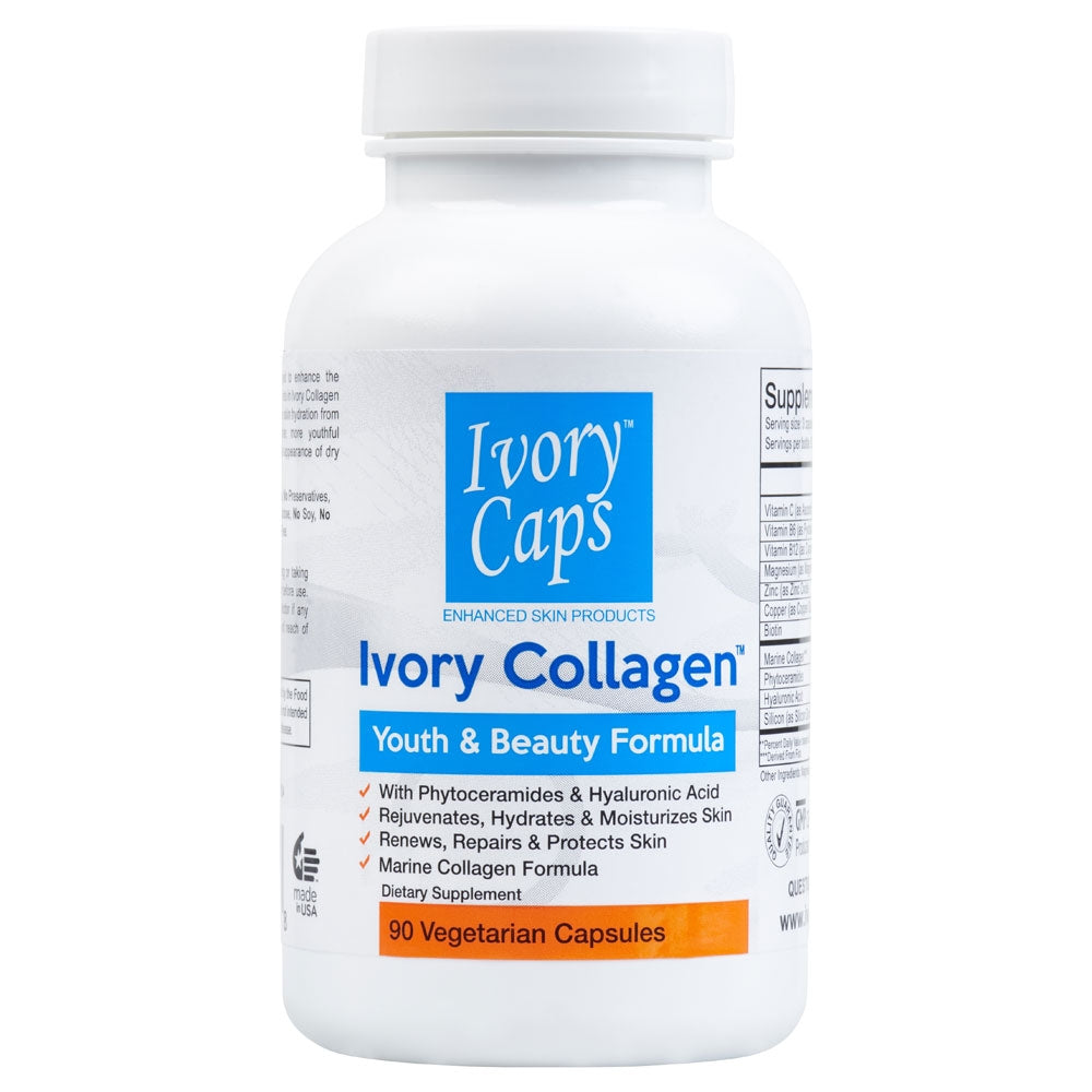 Ivory Caps ~ Collagen Youth & Beauty Formula (90 Capsules) - 786shop4you