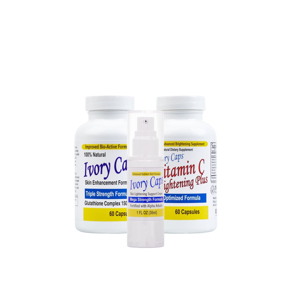 Ivory Caps ~ Vitamin C ~ Ivory Caps Mega Strength Cream ~ Complete Lightening System 1 - 786shop4you