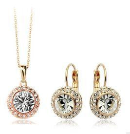 Austrian Crystal Necklace Set - 786shop4you