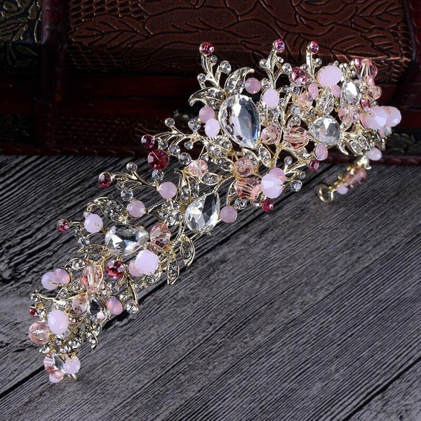Bridal Pearl Crystal Handmade Tiara - 786shop4you