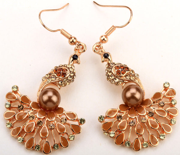 Peacock Dangle Earring ~ YQ