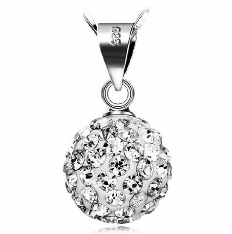 Rhinestone Ball Necklaces Vintage Silver-Plated  Jewelry Wholesale Natural Crystals B2//Wh ABC 403101509 - 786shop4you