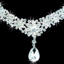 Crystal Flower Water Drop Plant Tiara - 786shop4you