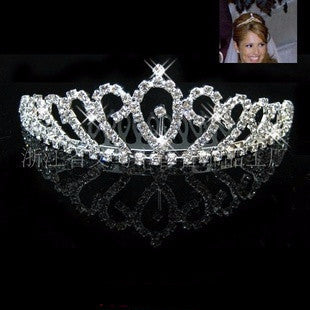 Rhinestone Wedding Heart Swan Tiara Crown