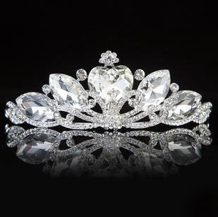 Crystal Heart Swan Tiara - 786shop4you