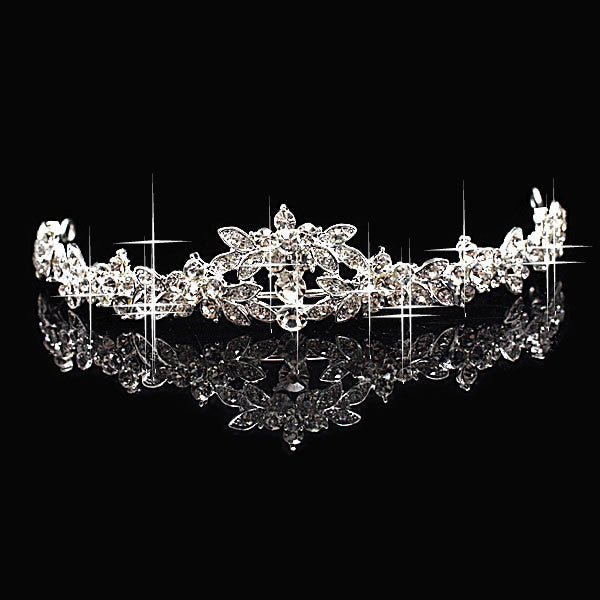 Rhinestone Flower Tiara ~ Crown