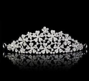 Crystal Small Flowers Tiara - 786shop4you