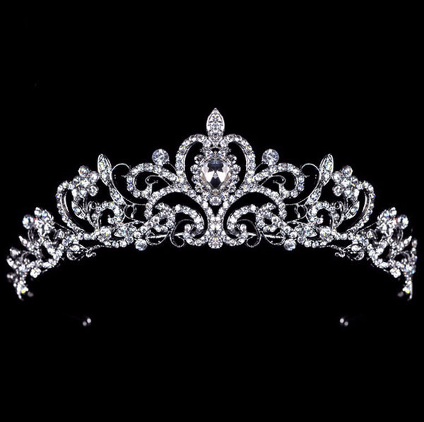 Queen Crystal Crown Tiara - 786shop4you