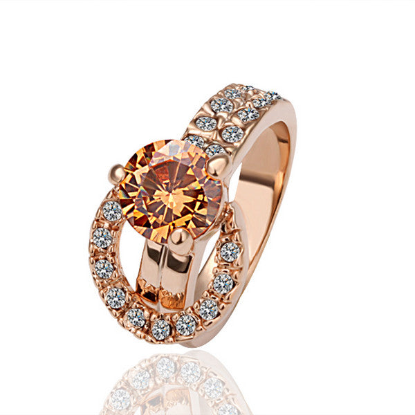 18K Gold Plated Crystal Ring - 786shop4you