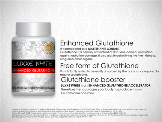 Luxxe White Enhanced Glutathione 775mg ~ 60 Capsules - 786shop4you