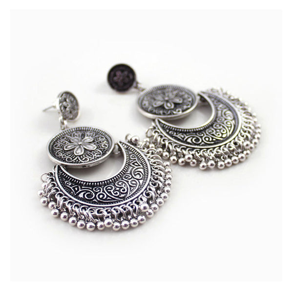 Classic Flower Coin Earring - 786shop4you