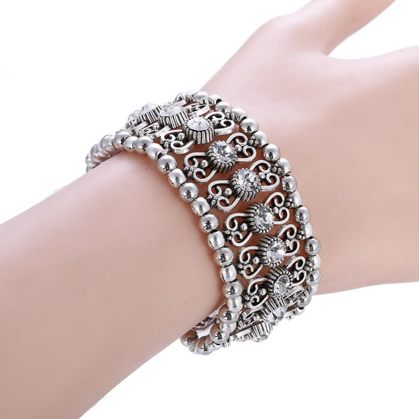 HR Vintage Charm Adjustable Crystal Bracelet LB