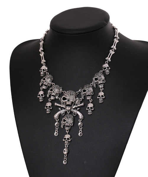 16Skeleton Skull Necklace LB - 786shop4you