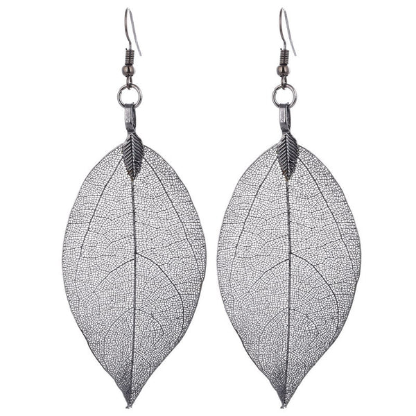 Bohemian Natural Real Leaf Big Earring LB - 786shop4you
