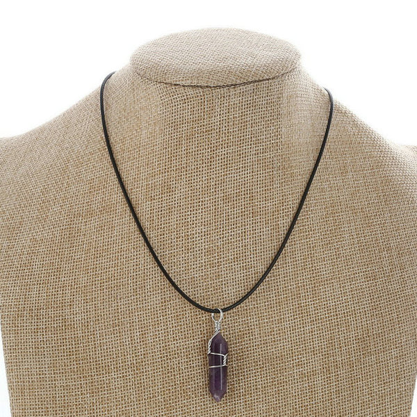 Natural Stone Chakra Pendant Necklace LB