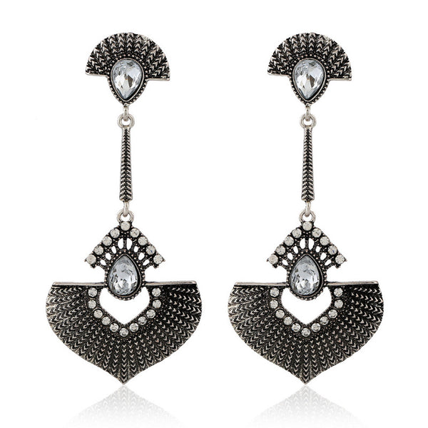 Bohemian Heart Crystal Earring - 786shop4you