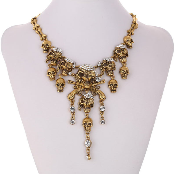 Skeleton Skull Necklace LB