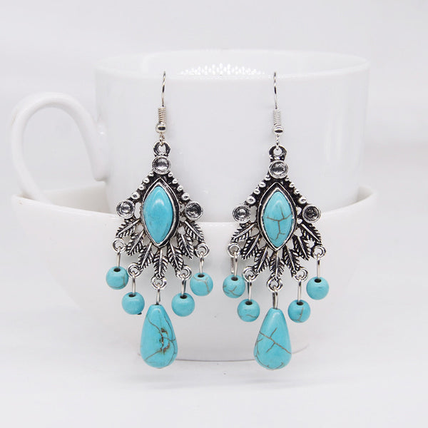 Drazzel Turquoise Earring LB - 786shop4you